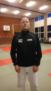 Trainingsjack met logo op borst en rug